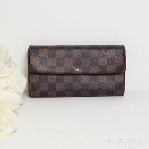 Louis Vuitton Damier  Ebene Sarah wallet #1706M